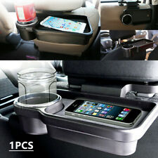 Car Rear Seat Back Table Drink Food Cup Tray Holder Desk Stand Mounting Bracket