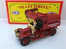 MATCHBOX YFW-0 CODE 2 1910 RENAULT AG TANKER LESNEY AIRPORT FIRE DEPT>1 of 36 MB