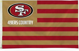 San Francisco 49ers Flag Banner Country Design 3x5 Premium with Metal...
