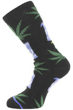 Towelie x HUF South Park Collab Plantlife Crew Sock Marijuana Weed Sox Men Black