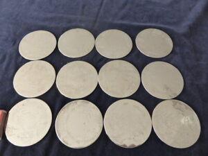 EPNS/Silver Plated Australia Coaster set of 12