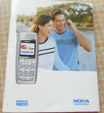 NOKIA 1600 INSTRUCTION HANDBOOK