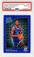 2018 Panini Donruss Optic Blue V. 188 Jaren Jackson Jr. Rookie Card RC PSA 10