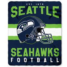 Seattle Seahawks NEW Licensed Fleece Throw Blanket Football Team 50'' X 60''