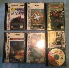 Vtg Sega Saturn Game Lot Virtua Fighter 2 Myst Revolution X Virtua Cop 1& 2  NM