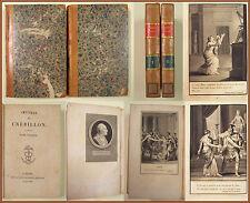 OEUVRES CREBILLON Paris 1818 Renouard incisioni Moreau