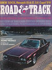 Road & Track Magazine Chevy Momo Mirage Renault December 1971 FREE US S/H