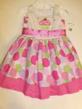 NWT Girls Bonnie Jean Cupcake Birthday Princess Dress Outfit 24M 2 NEW Party