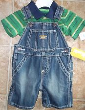 NWT Boys 12 Months 2 Piece Outfit Carters & Oshkosh T-Shirt/BibShorts $37 Value