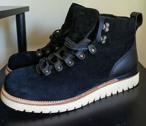 COLE HAAN Grand Explore Black Suede Boots, Size 10.5M...GREAT Condition!