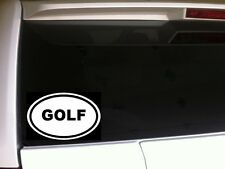 """Golf Oval Car Decal Vinyl Sticker 6"""" *D30 Sports Golfer Golfing Ball Cart PGA"""