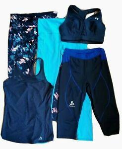 Women's Activewear Lot of 5, Workout leggings, bra, Tank Top Medium Mixed Brands