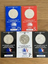 USA Silver Dollars 1983 Olympic Games In Presentation Cards Proof
