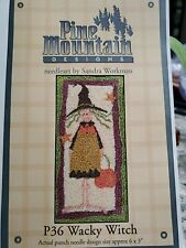 Pine Mountain Designs WACKY WITCH Punch Needle Pattern ONLY