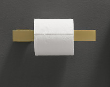 Wall Mounted Brass Paper Holder Brushed Gold Finish Toilet Roll Tissue Shelves