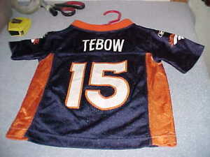 NEW Toddlers TIM TEBOW #15 DENVER BRONCOS NFL AUTHENTIC FOOTBALL JERSEY, Size 2T