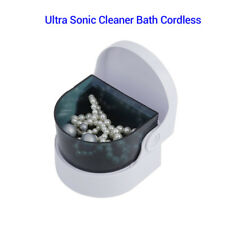 Compact Cordless Sonic Cleaner Bath Cordless For Jewellery Clear Removable Mini