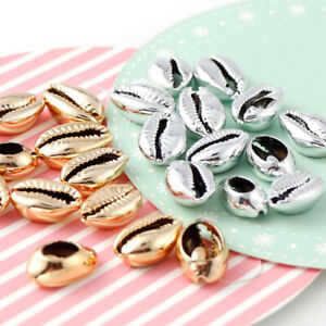 20 Pcs DIY Plated Shell Conch Beads Cowrie Tribal Jewelry Craft Accessorie_Z.fr
