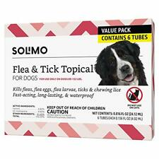 Brand - Solimo for Dogs Xlarge Dog 89-132 pounds Flea and Tick Treatment 6 Doses
