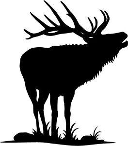 Elk in grass vinyl decal/sticker deer wapiti hunting antlers bugling