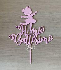 Cake Topper Il Mio Battesimo Ballerina Bambina Bimba Danza