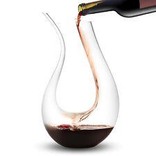 JoyJolt Cigno Wine Decanter Hand Blown Lead-free Crystal Glass 50oz