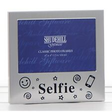 Satin silver 'SELFIE' occasion  photo frame/gift/special