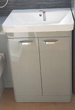 Gloss basalt grey bathroom furniture vanity unit & sink Rrp  £367