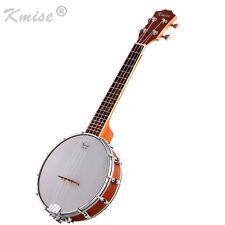 Kmise Concert Banjo Ukulele Uke 4 String Banjolele 23 Inch Size Sapele for Gift