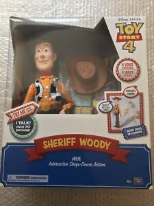 Disney Toy Story Sheriff Woody With Interactive Drop-down Action Figure - New