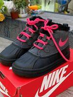 Nike Woodside Chukka 2 (TD) Boots Girls Toddler Pink Black 859427 001 NIB