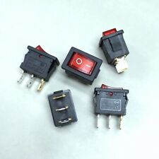 10 pcs x Auto KCDM Red Illuminated 3 Pin 15*21mm ON/OFF Rocker Switch #Agtc