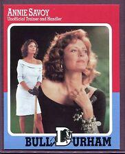 "SUSAN SARANDON ~ Bull Durham Movie ""Annie Savoy"" Baseball Card"
