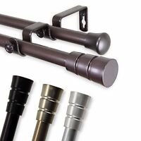 """Double Curtain Rod 3/4"""" OD #30 choose from 4 color, 28""""-170"""""""
