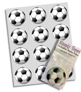 Cupcake Toppers Football Sport Pre-cut Edible Wafer Decoration 40mm x 12