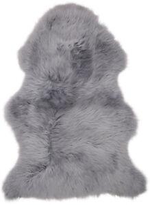Genuine Sheepskin Rug Silver Grey British Moorland Extra Thick by Lambland