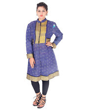 Exclusive Women's Cotton Jacket Kantha Quilted Winter Wear Sleeveless Short Coat