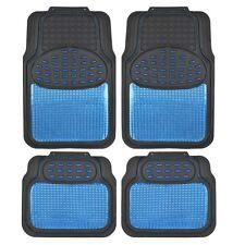 BDK Metallic Rubber Floor Mats for Car SUV & Truck - Ultra Heavy Duty Blue