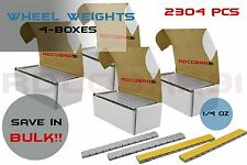 4 Boxes of 1/4oz Wheel Weights Low Pro Grey 576 Pieces per Box | 2304 Total Pcs
