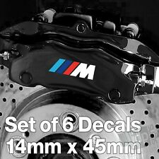 SMALL x6 BMW M Sport Badge Quality Brake Caliper Decals Stickers 14mm x 45mm