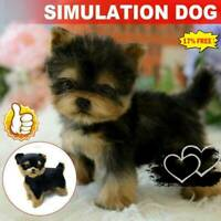 Realistic Yorkie Dog Simulation Toy Dog Puppy Lifelike Stuffed Toy