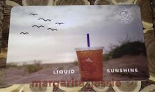 "THE COFFEE BEAN & TEA LEAF ""LIQUID SUNSHINE"" GIFT CARD NO VALUE NEW COLLECTIBLE"