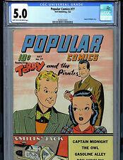 Popular Comics #77 CGC 5.0 1942 Golden Age Dell  War Bond Ad K10