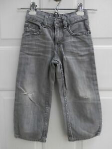 Gap 3T Baby Boy  Distressed Ripped Gray Jeans Pants Light Weight Elastic Waist