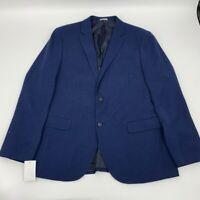 New Nordstrom rack mens jacket blazer navy Sz 44R polyester z 603
