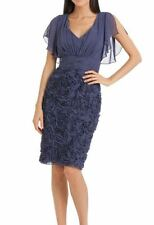 JS Collections - Rosette Embellished Purple Dress  - Size 4 _ $199