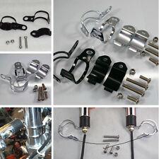 2PCS Durable Fork Clamp Motorcycle Turn Signal Light Mount Bracket Holder CA