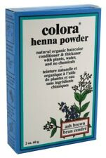 (2 Pack) COLORA HENNA POWDER HAIR COLOR ASH BROWN 2 Ounce