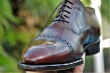 Ferragamo Man Lavorazione Originale  Brown  leather Dress shoe Brand Size 9.5 EE