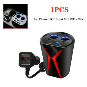 1x Multifunction Car 3USB Port Charger Intelligent Dual-Core Chip For Phone DVR